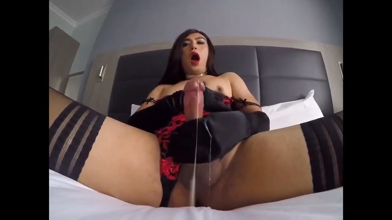Divine Tranny Blows her Cock