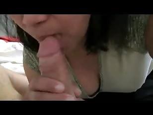 Glasses on ladyboy sucking dick