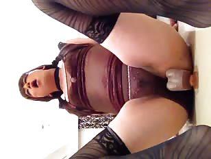 Punished tranny gets ladyboy anal orgasm induction