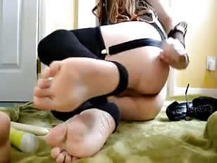 Super cute and young tranny having fun