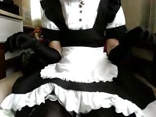 Maid in stockings getting her webcam freak on