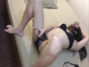 Dirty motel ladyboy cum