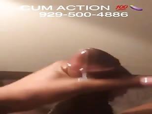 Thick Caramel Tranny Cock Cumming